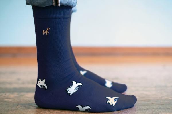 chaussettes motifs poisson pour adulte