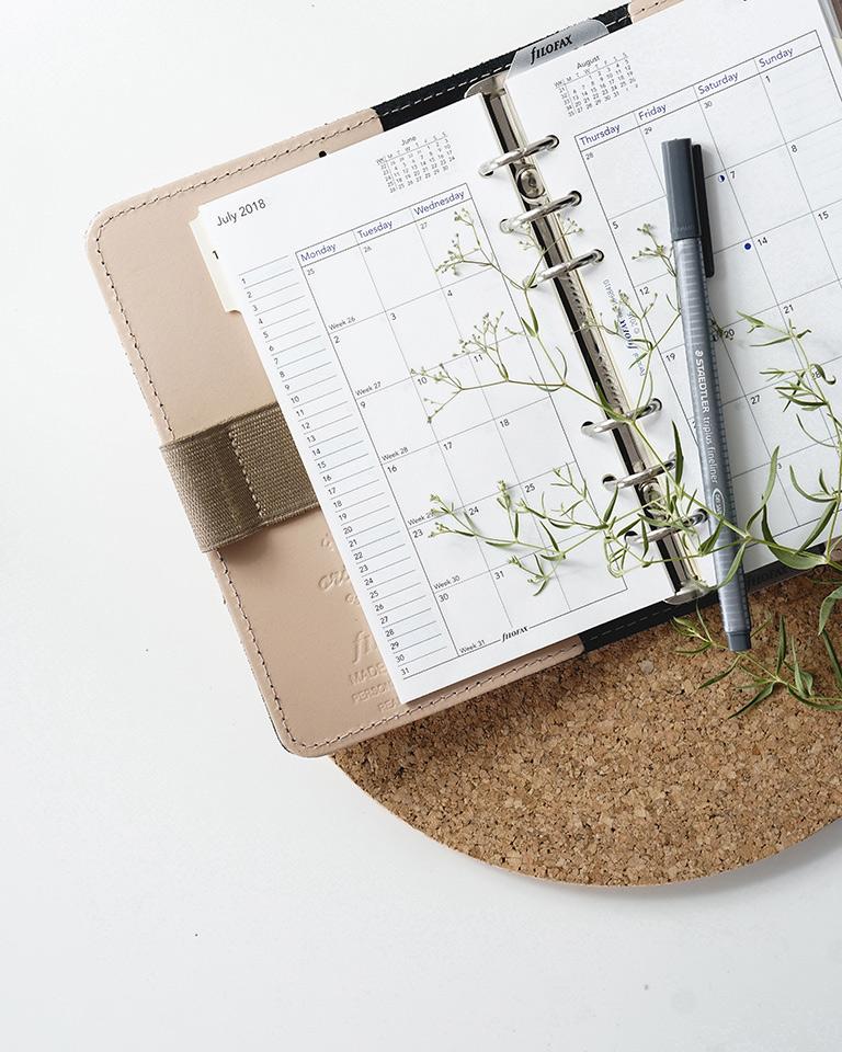 agenda avec stylo